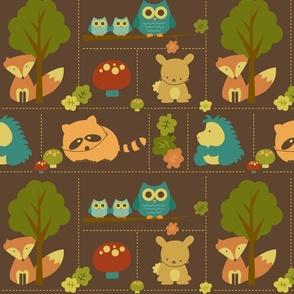 Cuddly Woodland Animal Bricks