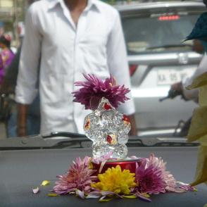 Ganesh on my dashboard, Chennai