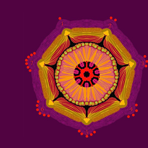 mandala pillow magic seven