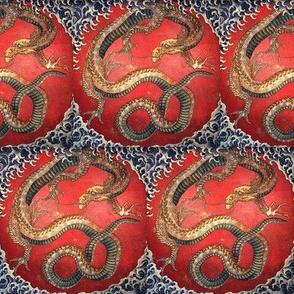 Dragon by Hokusai