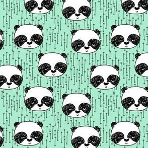 panda // nursery baby mint panda fabric cute pandas fabric kawaii panda head illustration scandi nursery design by andrea lauren