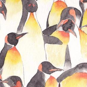 Watercolor penguin