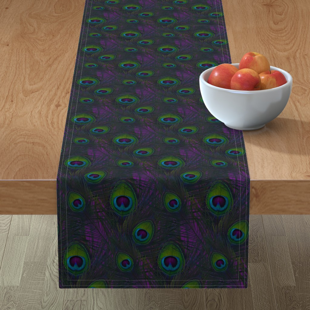 Minorca Table Runner featuring La Peacoquette ~ Violette  by peacoquettedesigns