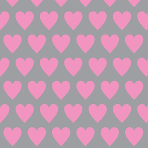 Hearts pink on white-ch