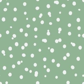 Messy Polka Dots in Moss