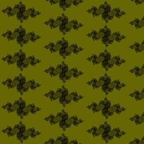 Julia/ Mandelbrot Set Mathematical Fabric 8