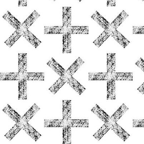 stone crosses white