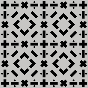 math symbols - solid black on gray