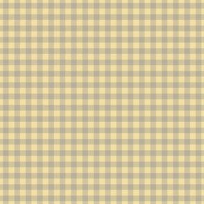 gingham mesh grey on butter