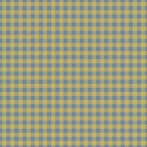 gingham mesh yellow on blue