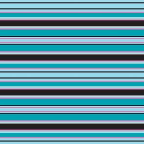 Aqua Penguin Stripes