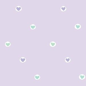 More Love Drops: Faithful II (lavender, mint green, purple, white)