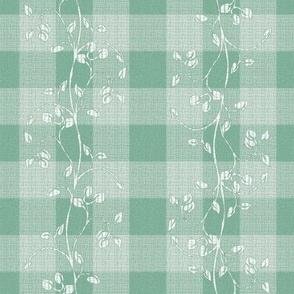 gingham mesh jade leaf stitch_