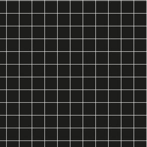 Lauper Fizz - White on Black Grid