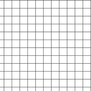 Lauper Fizz - Black on White Grid