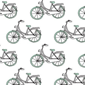 Dutch Amsterdam hipster bike illustration scandinavian themed pattern