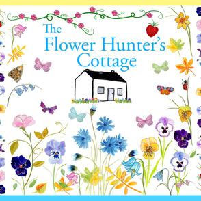 Large Satin Flower Hunter's Cottage Quilt
