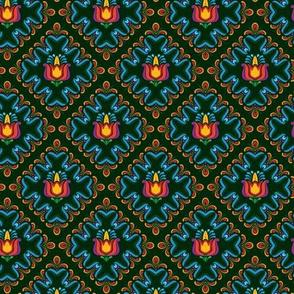 Folk Flowers Pattern 3