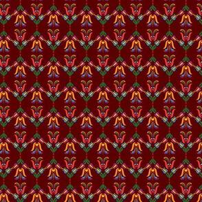 Folk Flowers Pattern 5