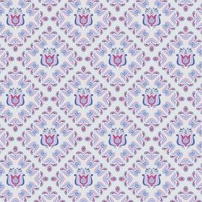 Folk Flower Pattern 3 - Winter