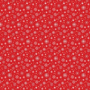 Nutcracker_snowflakes on red
