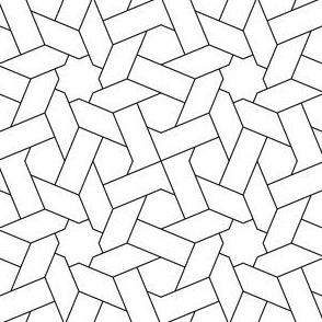 03832693 : octagonal star weave