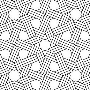 03832697 : octagonal star X weave in 3