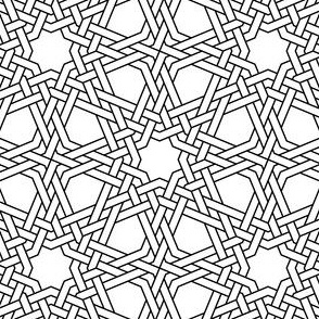 03832698 : octagonal star X double-weave