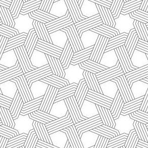 03832699 : octagonal star X weave in 5