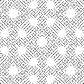 03832700 : octagonal star X triple-weave