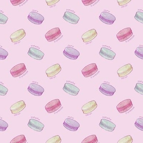 French Macarons - on pale pink