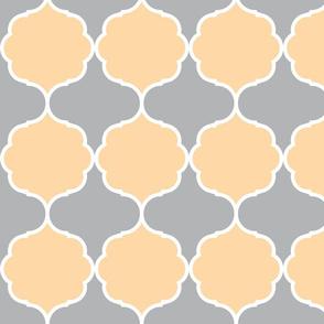 Hexafoil Peach Gray White