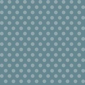Blue on Blue Polka Dot