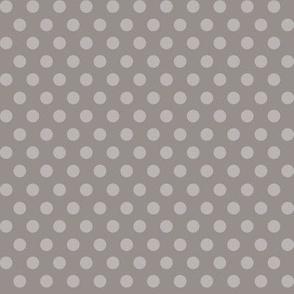 Mushroom Madness Polka Dots in Gray