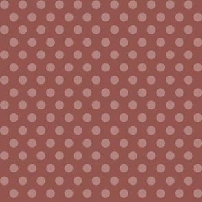Mushroom Madness Polka Dots in Rust
