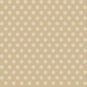 Mushroom Madness Polka Dots in Tan