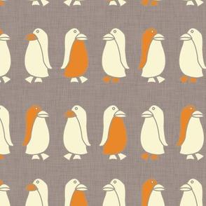 Penguin (orange and gray)