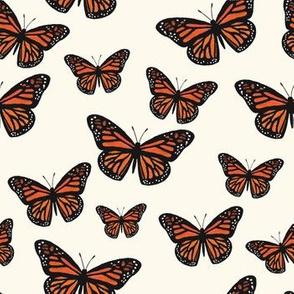 Monarch Butterflies (Warm White)
