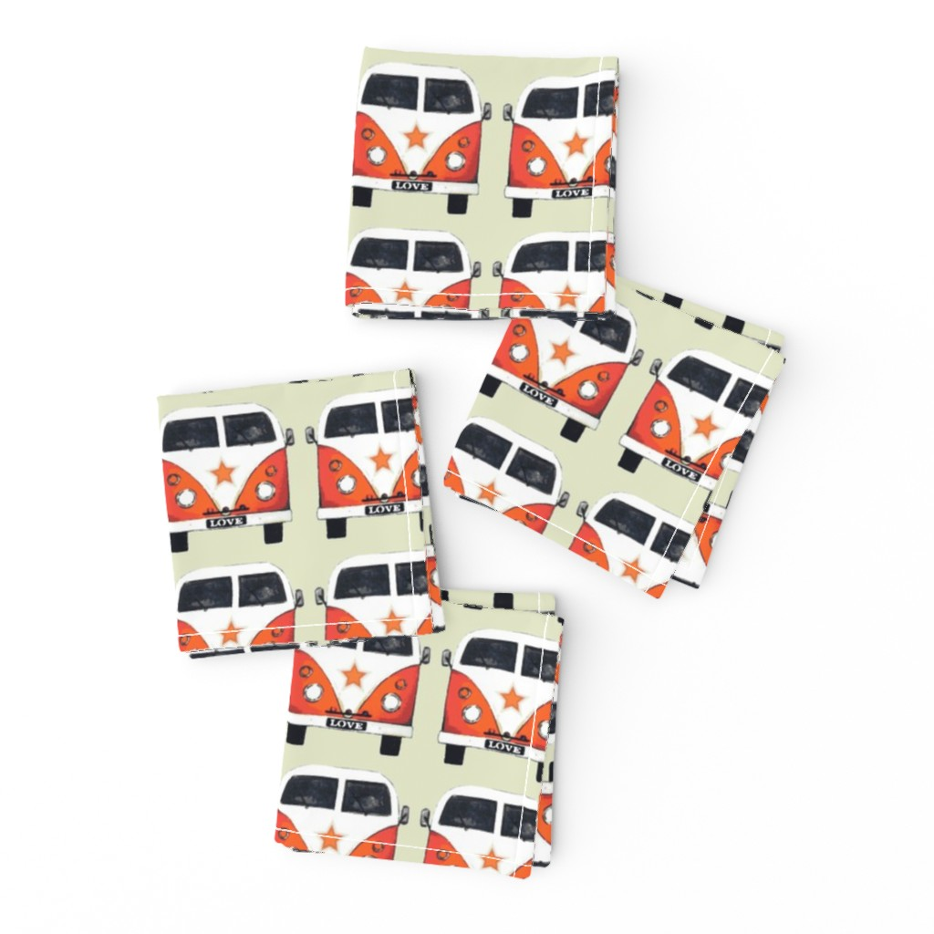 Frizzle Cocktail Napkins featuring star camper by scrummy