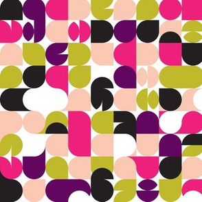 Colorful summer geometric abstract bubble pattern print