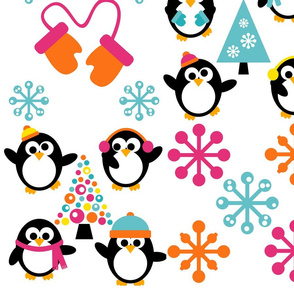 Winter Penguin Pals