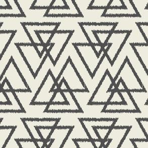 Trilogy Triangles-Cream & Dark Gray