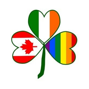 Gay Pride Canadian Shamrock