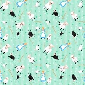 Bopeep & Sheep Ditsy Pattern