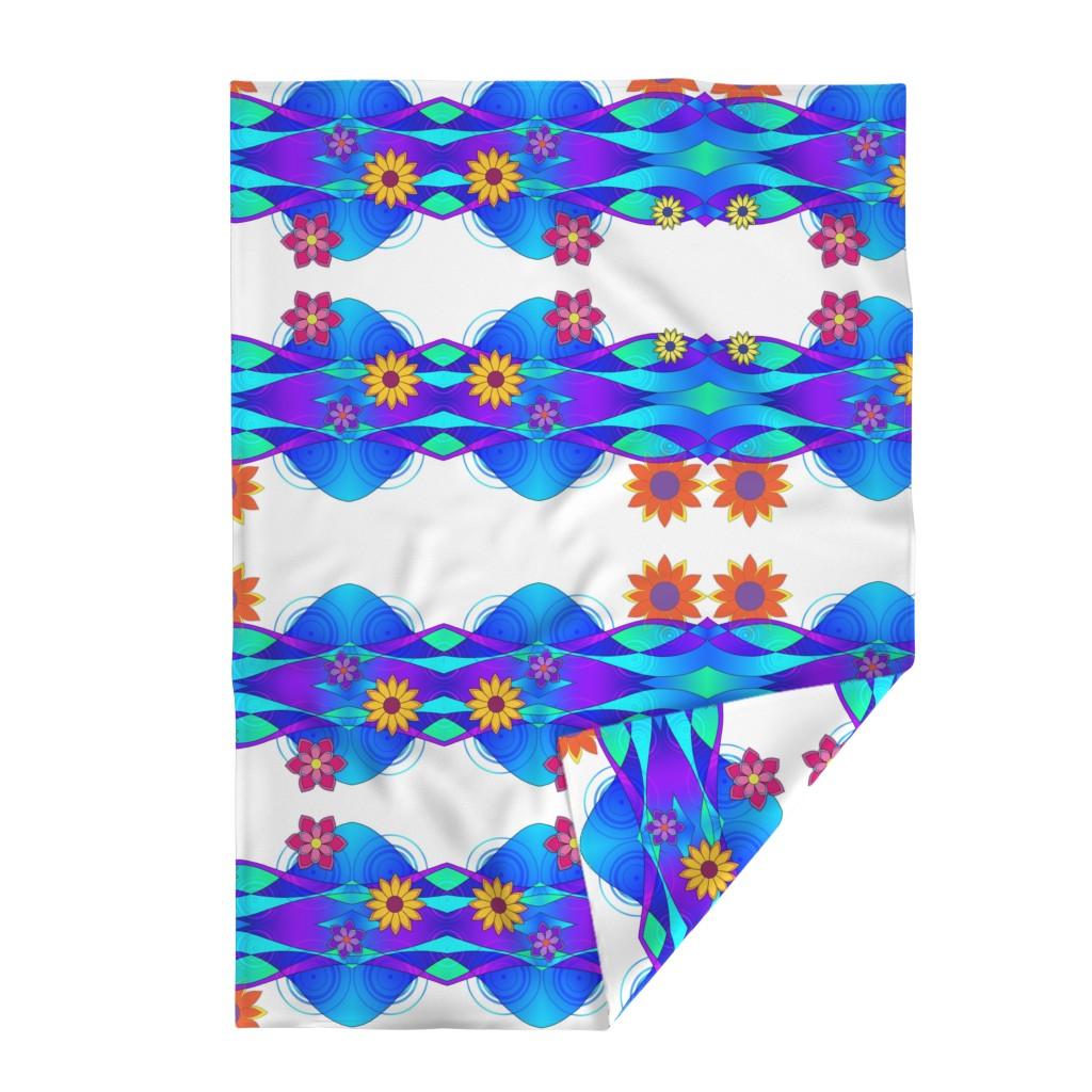 Lakenvelder Throw Blanket featuring Flashy Flowers & Waves by sssowers