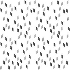 rhomb #2 black on white