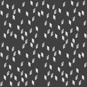 rhomb #2 white on black