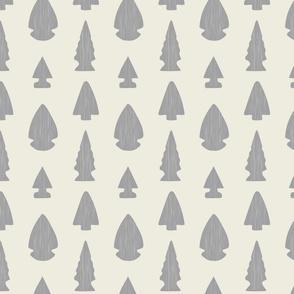 Arrowheads-Cream & Light Gray