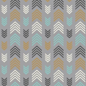 Chevron Arrow Stripes-Light Gray