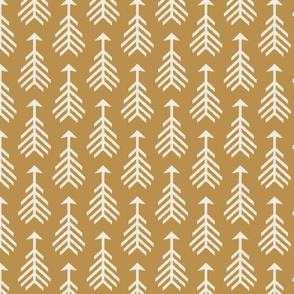 Arrows-Mustard & Cream
